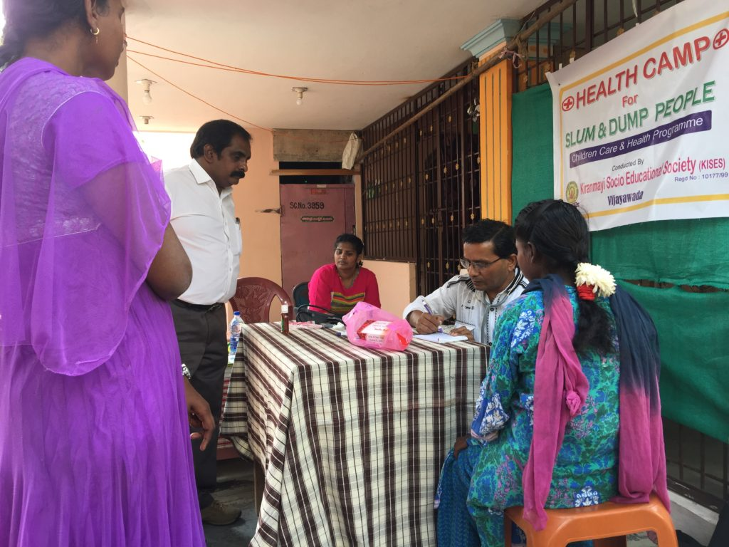 Free health camp at KISES School for Slum and Dump Children