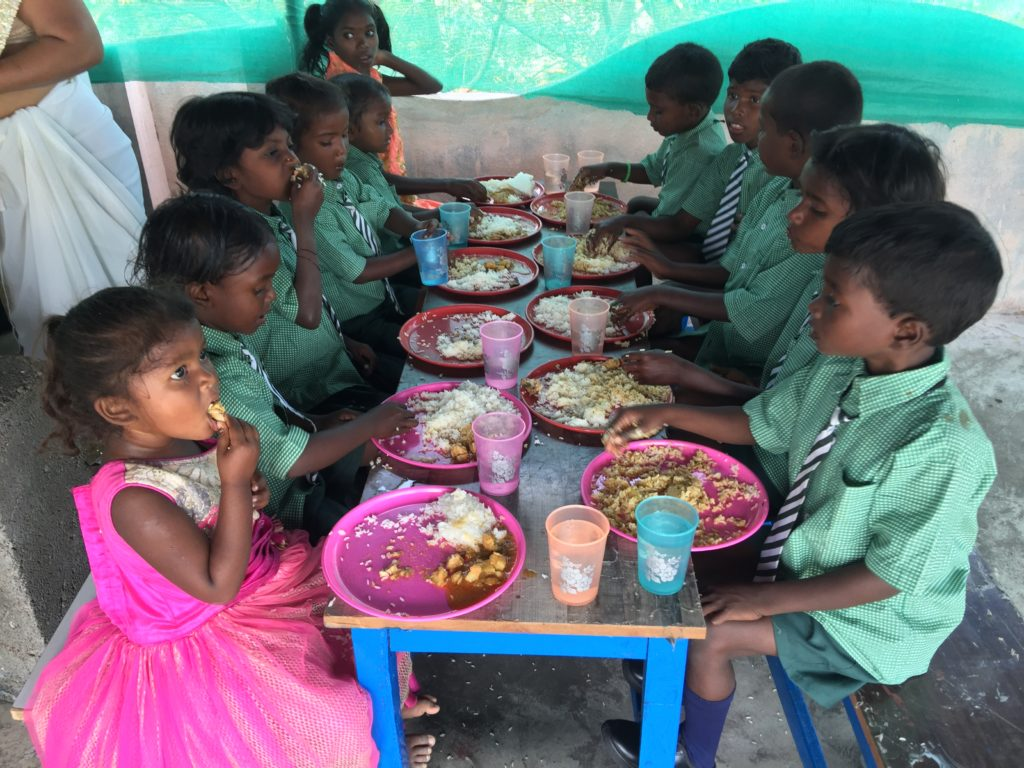Meal time at KISES School for Slum and Dump Children